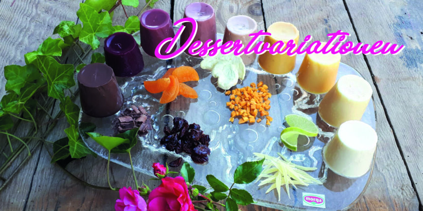 Recette pour Morga Panna Cotta en neuf saveurs différentes