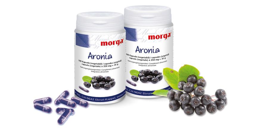 Aronia Vegicaps Kapseln mit Arioniabeere von Morga