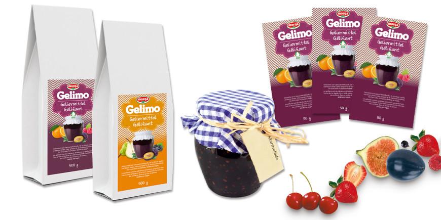 """Veganes Geliermittel """"Gelimo"""" für Konfitüre von Morga klassisch und in Bio-Qualität im 500 Gramm Beutel und in 50 Gramm Portionsbeuteln"""