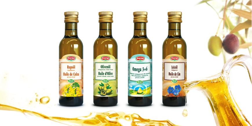 Kaltgepresste Speiseöle von Morga