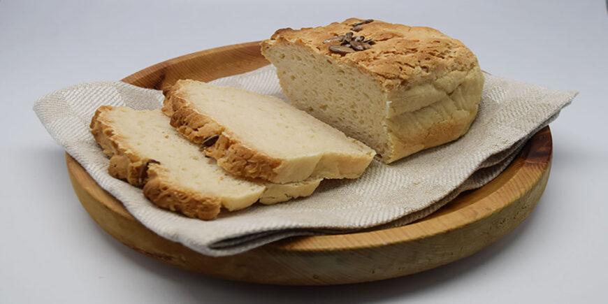 Rezept für glutenfreies, veganes Brot mit Reismehl und Teffmehl