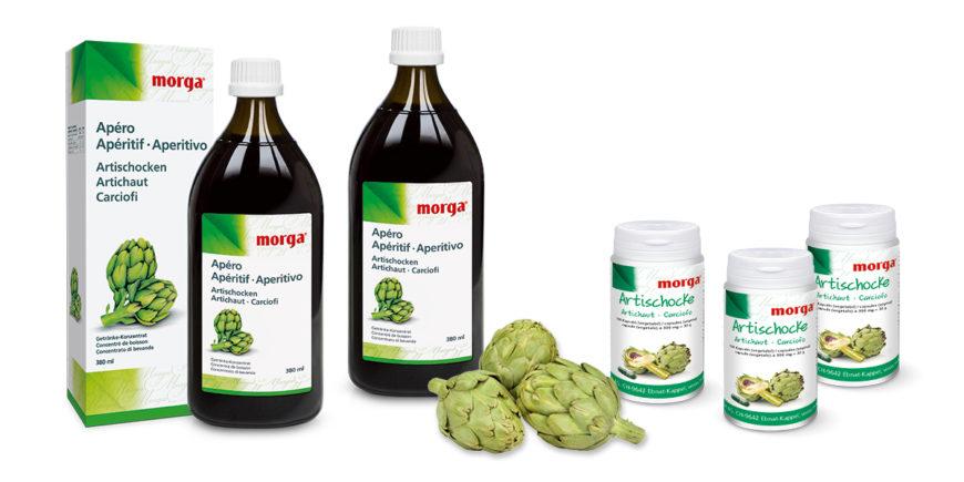 Artischocken-Produkte von Morga; Artichaut