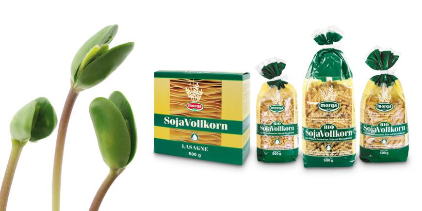 Sojanudeln und Lasagneblätter aus Bio Vollkorn von Morga